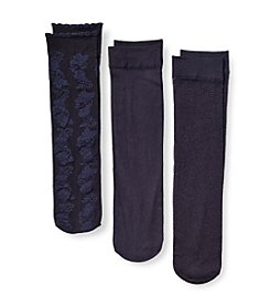 Relativity® Floral Trouser Socks Three-Pack