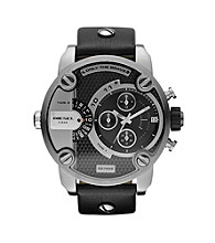 Diesel Silver/Black SBA Jump Hour Chronograph Watch