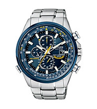 Citizen® Men's Stainless Steel and Blue Eco Drive