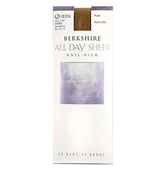 Berkshire® Queen All Day Leg Sandalfoot Knee Highs
