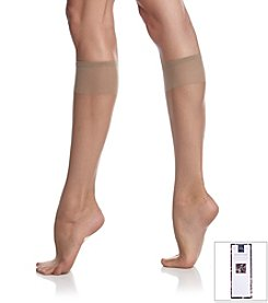 Berkshire® Ultra Sheer Knee High Sandalfoot - City Beige