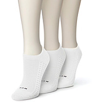 HUE® 3-pk. Air Cushion No Show Socks - White