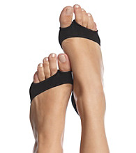 HUE® Perfectly Bare Peep-Toe Liners - Black