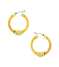 Anne Klein® Goldtone Arcadia Hoop Earrings