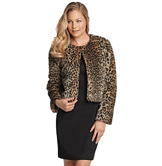 Fever™ Faux Fur Cheetah-Print Jacket