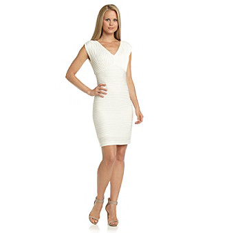 Calvin Klein V-Neck Banded Sheath Dress