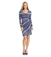 Calvin Klein Zig-Zag Striped Dress