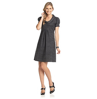 Jessica Howard® Petites' Roll-Neck Puff Sleeve Dress