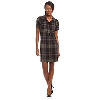 Jessica Howard Petites' Roll Neck Plaid Dress
