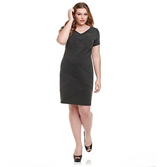 AGB® Plus Size Bandage Dress