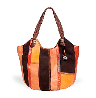 The Sak® Chocolate Stripe Indio Leather Tote