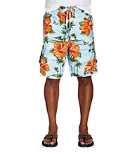 True Nation™ Men's Big & Tall Blue Surf Island Board Shorts