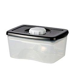 Zak Designs®  Clear Black Dial Air Tight PP Food Storage