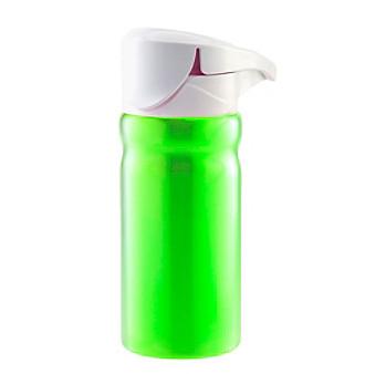 Zak Designs® 22oz White FLIP Lid on Vista Single Wall Stainless Steel Bottle