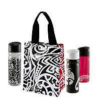 Zak Designs® Aria Insulated Woven PP Tall Tote and Bottles