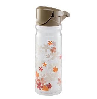 Zak Designs®  24oz Taupe FLIP Lid on Vista Single Wall Tritan Bottle