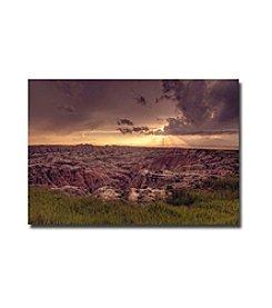 """Trademark Fine Art """"Badlands Sunset"""" by Ariane Moshayedi"""