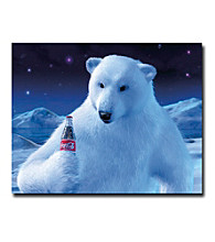"""Trademark Fine Art """"Coke Polar Bear with Coke Bottle"""""""