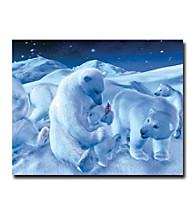 "Trademark Fine Art ""Coke Polar Bear Sitting with Cub and Bottle"""