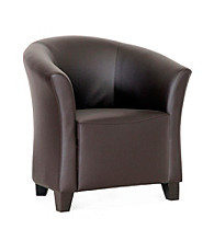 Baxton Studios Jackson Modern Brown Club Chair