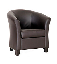 Baxton Studios Anderson Modern Brown Club Chair