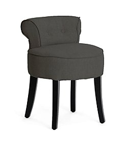 Baxton Studios Millani Gray Linen Modern Lounge Stool