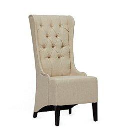 Baxton Studios Vincent Beige Linen Modern Accent Chair