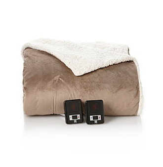 LivingQuarters Sherpa Electric Blankets