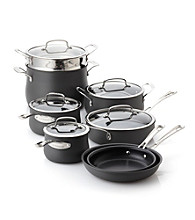 Cuisinart® 13-pc. Black Contour Hard Anodized Cookware Set + FREE Stainless Steel Bowls and Prep Set