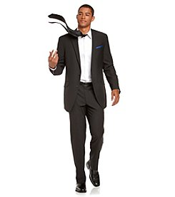 Billy London® Men's Black Stripe Slim Fit Suit Separates