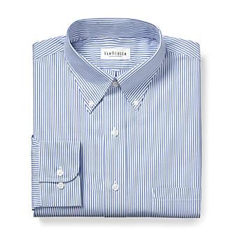 Van Heusen® Men's Blue Long Sleeve Dress Shirt
