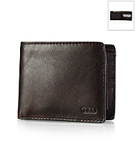 Lauren® Men's Oil-Milled Leather Passcase Wallet
