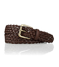 Lauren® Men's Brown Burlington Braided Leather Belt