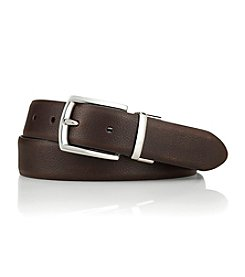 Lauren® Men's Brown/Black Reversible Tumbled Leather Belt