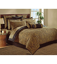 Brown Leopard Wild Life Comforter Set by Scent-Sation, Inc.