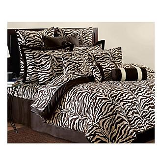 Brown Zebra Wild Life Comforter Set by  Scent-Sation, Inc.