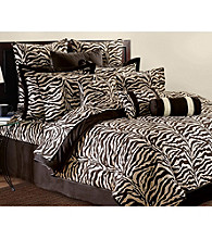 Brown Zebra Wild Life Comforter Set by Scent-Sation, Inc.