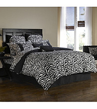 Black Zebra Wild Life Comforter Set by Scent-Sation, Inc.