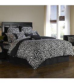 Black Zebra Wild Life Comforter Set by  Scent-Sation, Inc.