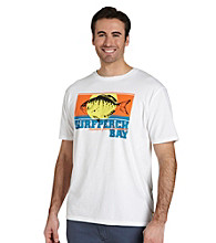 Nautica® Men's Big & Tall Bright White Surf Perch Bay Screen Tee