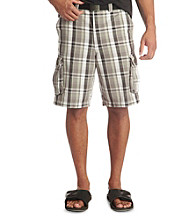 True Nation™ Men's Big & Tall Gray Plaid Cargo Shorts