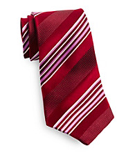 Gold Series™ Men's Big & Tall Red Satin Stripe Silk Tie