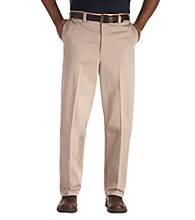 Oak Hill® Men's Big & Tall Waist Relaxer Flat Front Premium Pant