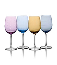 Mikasa® Cheers Color Set of 4 White Wine Glasses