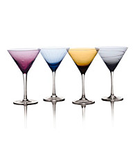 Mikasa® Cheers Color Set of 4 Martini Glasses