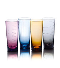 Mikasa® Cheers Color Set of 4 Highball Glasses
