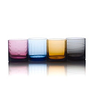 Mikasa® Cheers Color Set of 4 Double Old Fashion Glasses