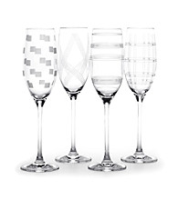 Mikasa® Expression Set of 4 Champagne Flutes