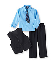 Izod® Boys' 2T-7 Navy/Stripe 4-pc. Dressy Vest Set