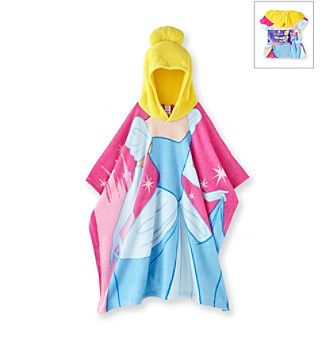 Disney Princess Girls' Pink/Blue Cinderella Hooded Blanket